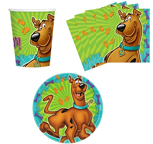 Amscan Scooby-Doo Birthday Party Supplies Set Plates Napkins Cups Kit for 16 by ()