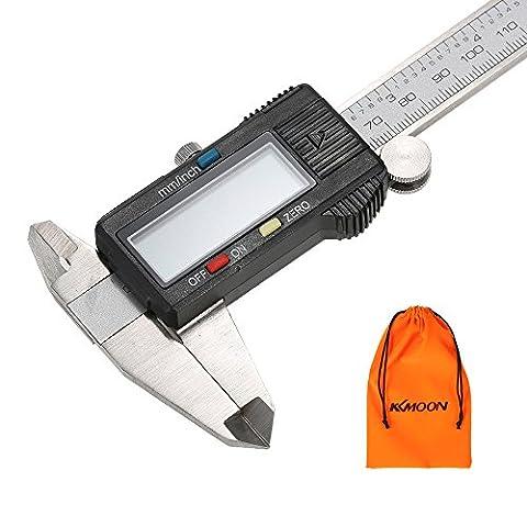 KKmoon Pied à Coulisse de Précision Numérique 0-150mm en Acier avec Ecran LCD