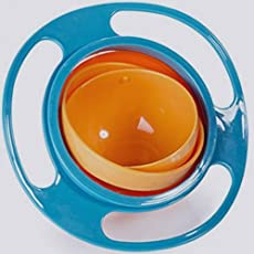 Spill Resistant No Spill Gyro Baby Feeding Food Bowl