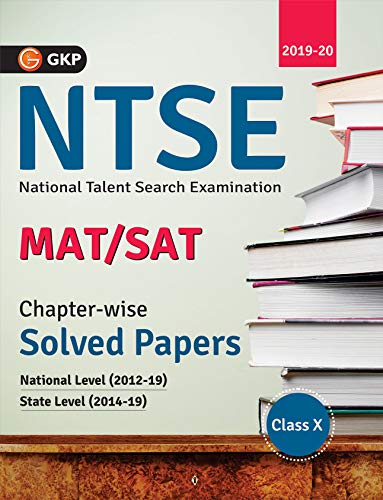 NTSE 2020 : Class 10th  Chapter wise Solved Papers (National Level 2012 to 2019 & State Level 2014 to 2019)
