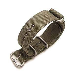 Bracelet NATO 22B22EZZ00C2R01(FR)–Sangle de nylon, Vert (22)