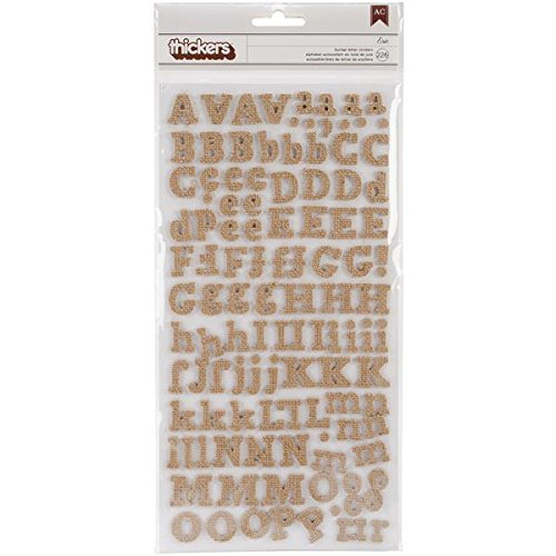 American Crafts DIY Thickers Alphabet Stickers 6