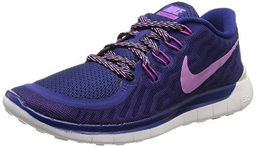 Nike Wmns Free 5.0, Chaussures de Sport Homme multicolore (Dp Ryl Bl/Fchs Glw-Fchs Flsh-C)