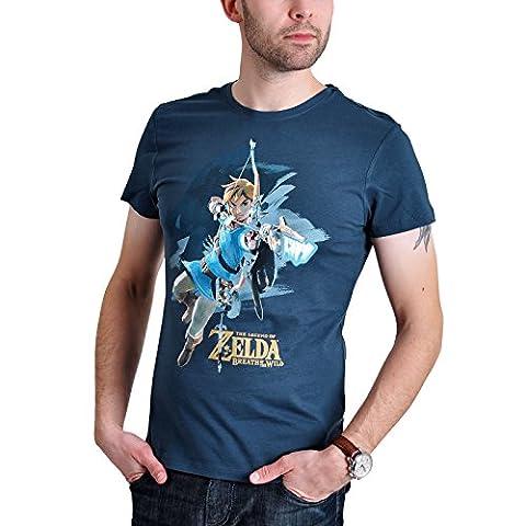 The Legend of Zelda Breath Of The Wild - Link With Arrow T-shirt bleu L