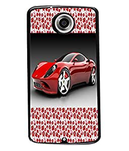 Fuson 2D Printed Car Designer back case cover for Motorola Google Nexus 6 - D4176
