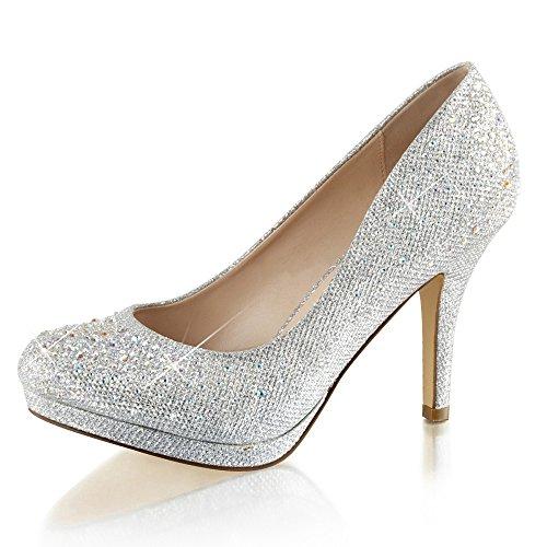 Damenpumps, Damen, Silber (silber) Silber (Silber)