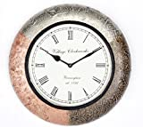 Home and Bazaar Traditional Wall clock w...