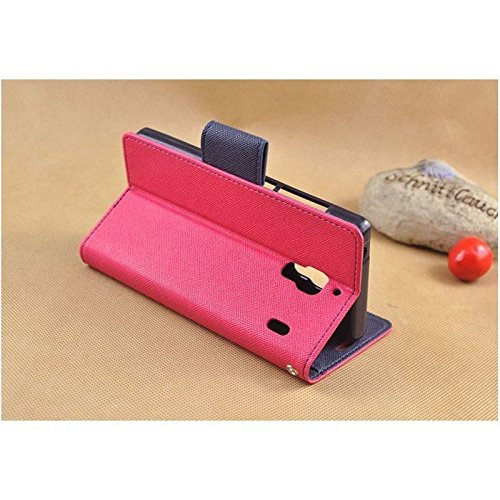 Sparkling Trends Mercury Goospery Fancy Diary Wallet Flip Cover Case for Micromax Canvas JUICE 2 AQ5001 Pink