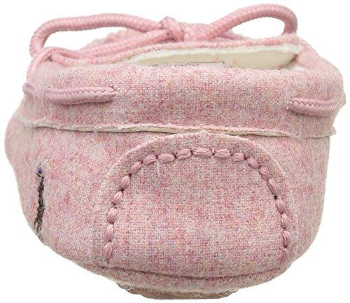 Ralph Lauren Rustle Moc, Chaussons fille Rose - Pink (light pink wool w pink plaid)