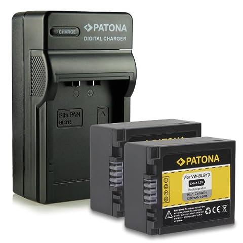 M&L Mobiles® | Neuheit - 4in1 Ladegerät mit micro USB Anschluss + 2x Akku wie DMW-BLB13 E DMWBLB13 E mit Infochip · 100% kompatibel mit Panasonic Lumix DMC-G1 | DMC-GF1 | DMC-GH1 | DMC-G2 |
