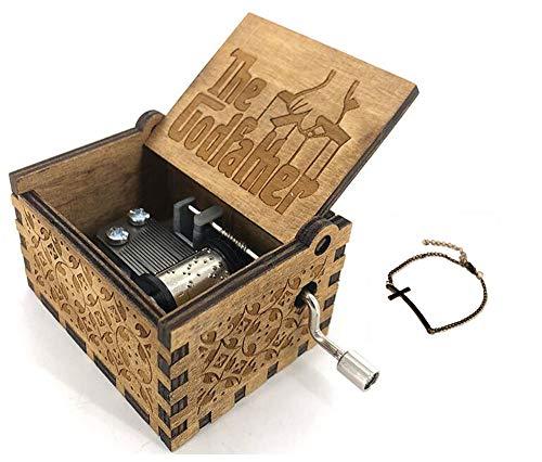 Cuzit The Godfather - Caja Musical de Madera para manivela