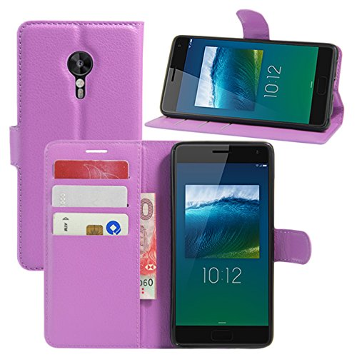 HualuBro Lenovo ZUK Z2 Pro Hülle, Premium PU Leder Leather Wallet HandyHülle Tasche Schutzhülle Flip Case Cover für Lenovo ZUK Z2 Pro Smartphone (Violett)