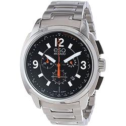 ESQ 7301415 47mm Silver Steel Bracelet & Case Mineral Men's Watch
