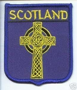 SCOTLAND WORLD ÉCUSSON CROIX CELTIQUE