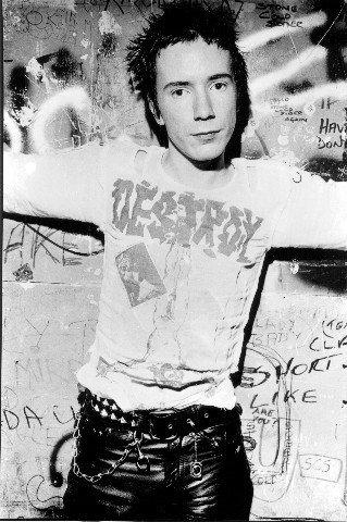 Johnny Rotten Sex Pistols foto della ristampa 40x 30cm