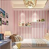 (zxfcccky) Koreanischen Stil Rosa Kinderzimmer Schlafzimmer Tapete Für Kinderzimmer Moderne Vertikale Gestreiften Vliestapete Wohnzimmer Dekor-350X250CM