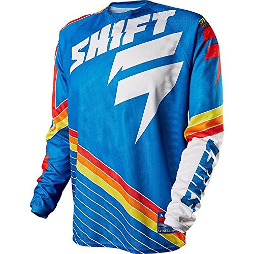 Shift Strike Stripes Cross-Shirt XXL Blau Stripe Shift
