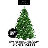 Weihnachtsbaum Lichterkette 100 LEDs warm-weiß für innen und außen - 10 Meter Gesamtlänge | kein lästiges austauschen der Batterien | Christmas Decorations - Weihnachtsdekoration | Xmas von CozyHome