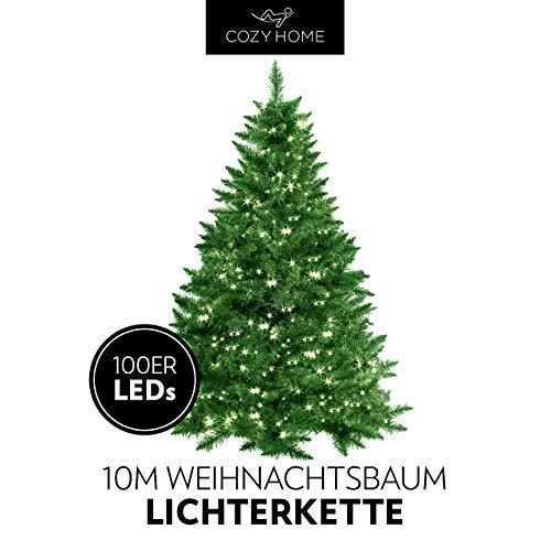 Weihnachtsbaum Lichterkette 100 LEDs warm-weiß für innen und außen - 10 Meter Gesamtlänge | kein lästiges austauschen der Batterien | Christmas Decorations - Weihnachtsdekoration | Xmas von CozyH