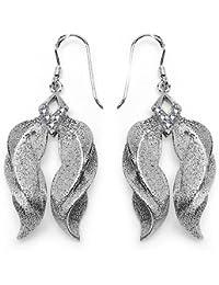 Johareez 0.20CTW White Cubic Zirconia .925 Sterling Silver Earrings