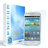 EAZY CASE 2X Panzerglas Bildschirmschutz 9H Härte für Samsung Galaxy S3 Mini, nur 0,3 mm dick I Schutzglas aus gehärteter 2,5D Panzerglasfolie, Bildschirmschutzglas, Transparent/Kristallklar