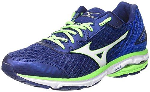 Mizuno Wave Rider 19, Zapatillas de running para hombre,  azul (twilight blue/silver/green gecko),  41 EU