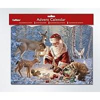 Santa & Deer Advent Calendar with Glitter