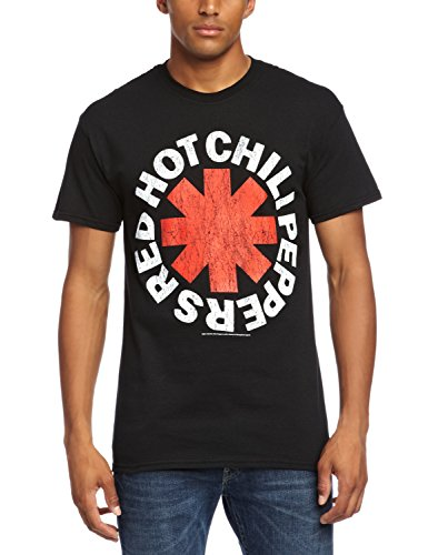 CID - Red Hot Chili Peppers - Distressed Asterisk, T-shirt da uomo,  manica corta, collo rotondo, nero(schwarz - black), 2XL