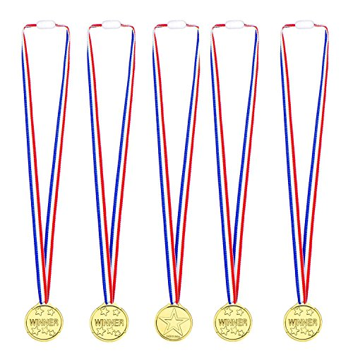 Whale 20 Packung Kinder Gold Gewinner Medaillen Auszeichnungen für Sport Tag Awards Spielzeug Party (20 Auszeichnungen)