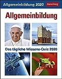 Allgemeinbildung Wissenskalender. Tischkalender 2020. Tageskalendarium. Blockkalender. Format 12,5 x 16 cm