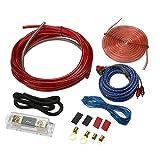 Asiproper 1500W 8Ga amplificateur installer kit pour Car Audio Haut-parleur câblage Refitting Outil