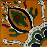 Fine Crafts & Imports 4.2x4.2 9 stück colima talavera mexikanische fliese lehm