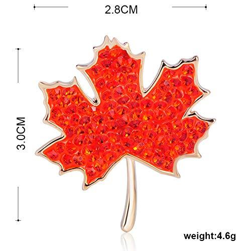 Red Crystal Maple Leaf Form Brosche Damen Herren Strickjacke Shirt Dekoration 珐 珐 Pflanze Anstecknadel Brosche