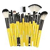 Makeup Brushes,Professionnelle Kits ,18Pcs Fondation en Bois CosméTique Sourcils Fard à PaupièRes Brosse Maquillage Pinceau Ensembles De Outils Makeup Brushes Brush Beauté Maquillage