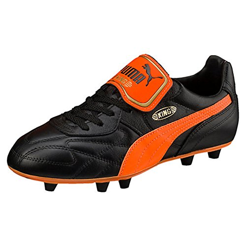 King Top Mii FG - Crampons de Foot - Noir/Orange Black