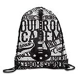 Bixungan Soul Rock Academy Theme Music School Electric Guitar Freedom Poster Like Image Leisure Backpack Sport Bag