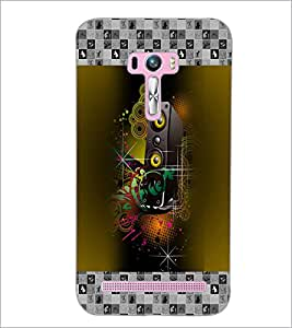 PrintDhaba Abstract Design D-3178 Back Case Cover for ASUS ZENFONE SELFIE ZD551KL (Multi-Coloured)