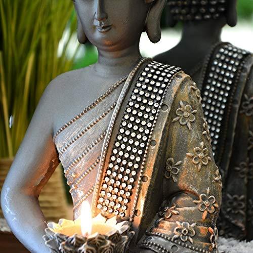 Buddha Statue Teelichthalter 31cm - 3