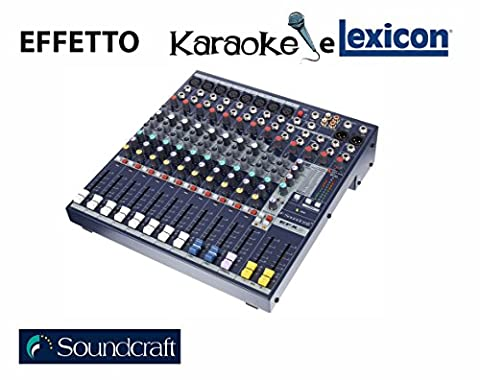 Efx 8+ K analogique mixage SOUNDCRAFT 8entrées Mono + 2stéréo avec effet Lexicon et karaoké magasin intermarket Hi-Fi Rome conception, vente, installation, assistance technique de haute fidélité, vidéo, Audio, accessoires, musique liquide, DJ, Home Automation, mobili. HiFi Online Shop