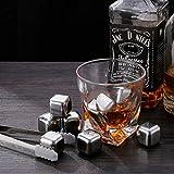 zanmini Pierre à Whisky Lot de 8 Pics glaçon à Whisky Ice Cubes en Acier Inoxydable réutilisable pour Vin Boisson Bière l'eau Lait jus de Fruit Cool en été (8 Pics)