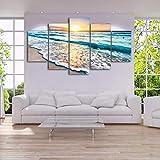 DOORWD Wandbilder Home Dekorativ Modern 5-teilig Großplakat Leinwanddruck Strand Sonnenuntergang 30x40cmx2 30x60cmx2 30x80cmx1 Kein Rahmen