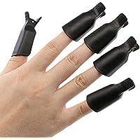 Westeng 10pcs Removedor de Esmaltes Manicura Uñas Herramienta del Arte del Clavo Limas de Uñas Size 5X2cm (Negro)