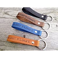 personalisiertes Geschenk, Schlüsselanhänger aus Leder mit Wunschtext von Schlüsselundwort das ideale Valentinstag Geschenk
