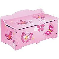 Holz Spielzeugkiste Truhenbank Schmetterling - preisvergleich
