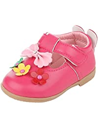Anvi Jewellers Foam Leather Dark Pink Baby Girl And Boy Shoe