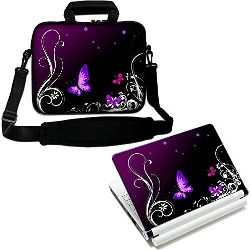 """Luxburg® 17"""" Zoll Schultertasche Laptoptasche Notebooktasche Tragetasche mit Tragegurt Plus freie Laptop-Aufkleber"""
