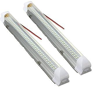 AUDEW 2x 72 LED Innenraumbeleuchtung Auto Lampe Leiste Leuchtstofflampe Innenbeleuchtung DC 12V Schalter Beleuchtung für Wohnwagen Anhänger Wohnmobil  PKW LKW Zubehör