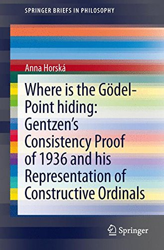 Where is the Gödel-point hiding: Gentzen's Consistency Proof of 1936 and His Representation of Constructive Ordinals (SpringerBriefs in Philosophy)