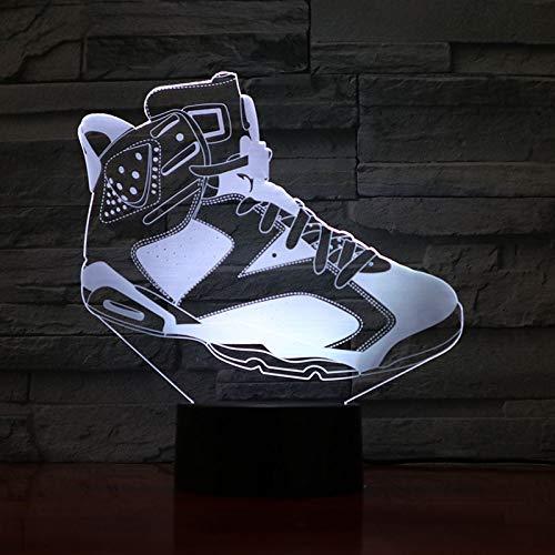 3D Nachtlicht Basketball Schuhe Herren NachtlichtLED 3DFantasie DekorationRGBJunge Kind Baby Geschenk Tischlampe Bett Turnschuhe MXLCK