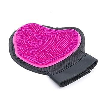 SuperDesign Gant de Toilettage Massage en Silicone Pour Animaux,Peigne de Massage,Brosse de Nettoyage Pour Chien et chat